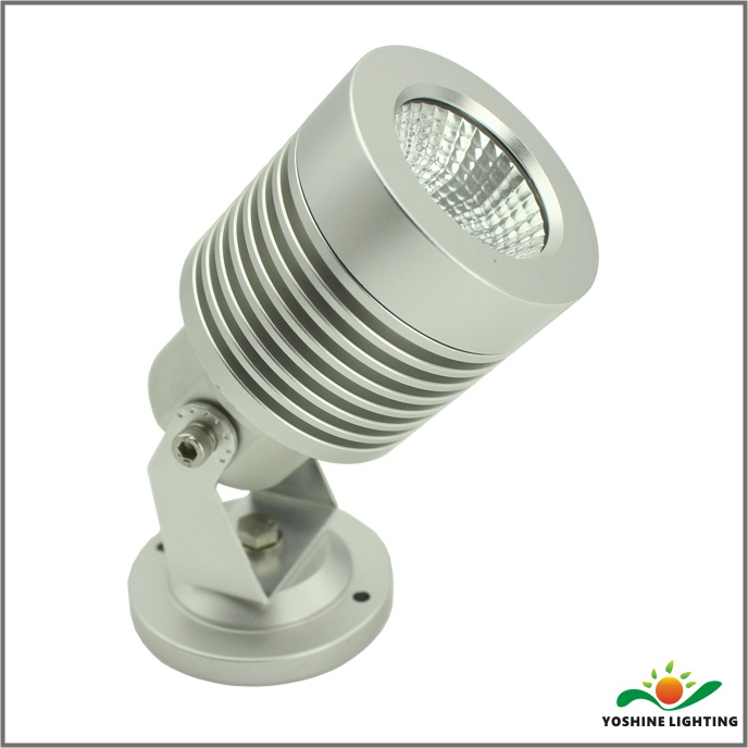 LED spotlight with ground stake