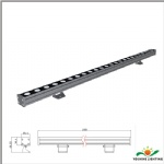 LED wall washer fixture