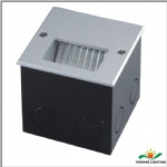 Led louver brick outdoor step light