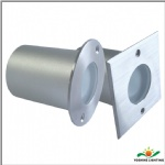 Stainless steel LED recessed round walkovers